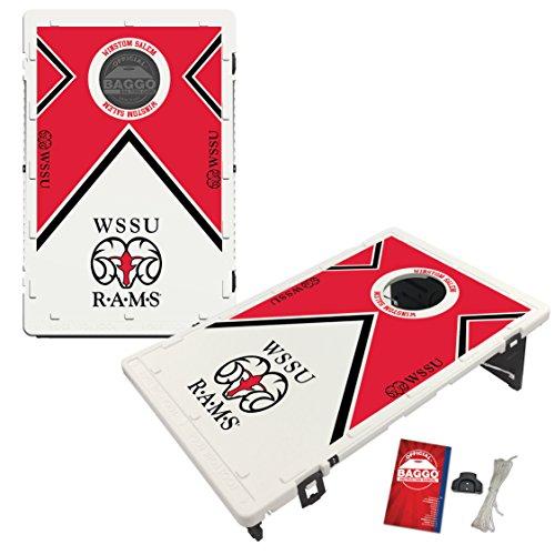 Winston Salem State University Rams Baggo Bean Bag Toss Cornhole Game Vintage Design by Victory Tailgate