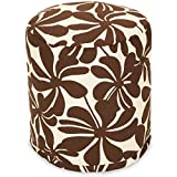 Majestic Home Goods Chocolate Plantation Indoor/Outdoor Bean Bag Ottoman Pouf 16'' L x 16'' W x 17'' H