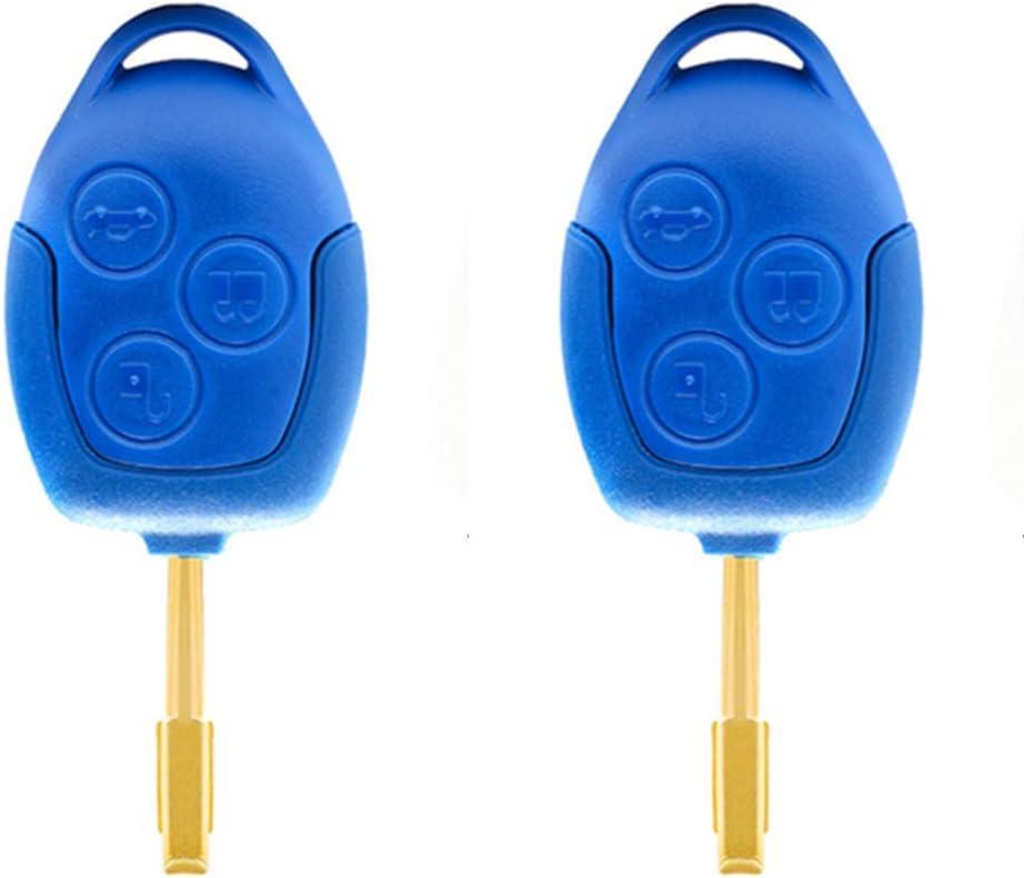 Beefunny 4d63 Chip P N 6c1t15k601ag 3 Tasten Fernbedienung Autoschlüssel Schlüsselblatt Fo21 Für Ford Transit Wm