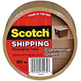 Scotch Commercial Grade Shipping Packaging Tape, 1.88 in x 54.6 yd, 1 Roll, Tan (3750T)