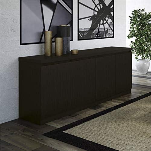 Pemberly Row 6 Shelf Buffet in Black Matte