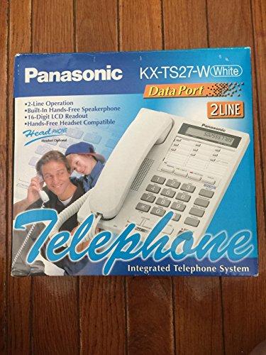Panasonic KX-TS27W 2 Line Corded Desk Phone with Multi Fu...