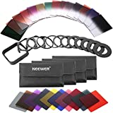 Neewer 40-in-1 Square Graduated Full Color ND Filter Kit Compatible with Cokin P Series Bundle for DSLR Cameras, Adapter Ring Filter Holder and Lens Hood Included