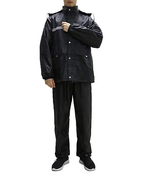 Minsong Traje Impermeable para Hombre- Traje De Lluvia para Moto O ...