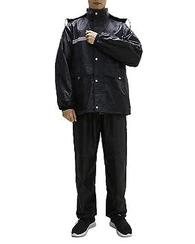 Minsong Traje Impermeable para Hombre- Traje De Lluvia para ...