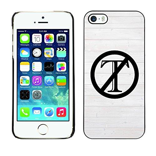 Print Motif Coque de protection Case Cover // Q04120517 Trump dehors blanc barrière // Apple iPhone 5 5S 5G