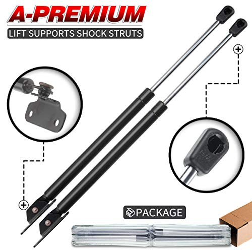 A-Premium Hood Gas Charged Lift Supports Shock Struts for Honda Accord 2003-2007 2-PC Set ()