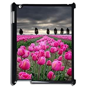 K-G-X Phone case For Ipad 2/3/4 Case Case-Pattern-15 Beautiful Holland Tulip Flower Protective Back Case wangjiang maoyi