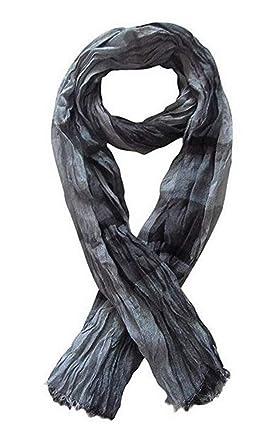 391d7af6765f Générique Chèche, foulard, écharpe style froissé pour homme, gris dominant,  180 x