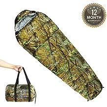 Hitorhike Mummy Sleeping Bag 0 Degree with Carry Bag Portable 4 Season Camping, Hiking, Traveling, Backpacking Extreme Weather Sleeping Bag Lightweight Camo Camping Sleeping Bag
