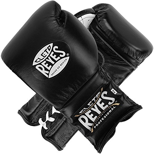 Cleto Reyes Traditional Lace Boxing Gloves Black 12 oz.