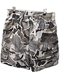 00153800b24d Mens Elastic Waist Swim Short Trunks - Tugger Above Knee 20.5