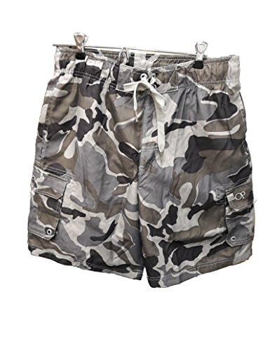 Ocean Pacific OP Mens Elastic Waist Swim Short Trunks - Tugger Above Knee 20.5
