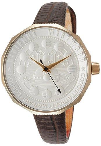 Vivienne Westwood watch EDGEWARE silver dial brown leather Quartz VV171GDBR Ladies