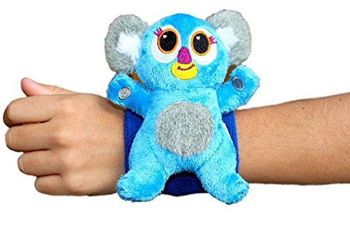 Critter Cuffs On-The-Go Stuffed Koala with Reversible Wristband | Super Soft Plush Stuffed Animal | Perfect Travel Toy for Toddlers | No Beads or Buttons | Machine Washable
