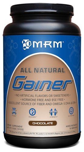 MRM - Gainer, Natural Protein Powder That Supports Lean Muscle Mass and Maintain a Healthy Weight (Chocolate, 3.3 lbs)