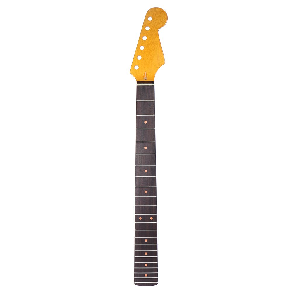 ammoon 22 Frets New Replacement Maple Neck Rosewood Fretboard Fingerboard for Fender STStrat Electric Guitar