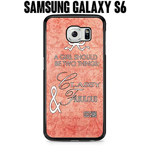 Phone Case Vintage Classy Fabulous Girl Quote for Samsung Galaxy S6 SM-G920 Plastic Black (Ships from CA)