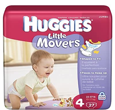 Huggies Little Movers Diapers Jumbo Pack Size 4 27ct. from Kimberly-Clark