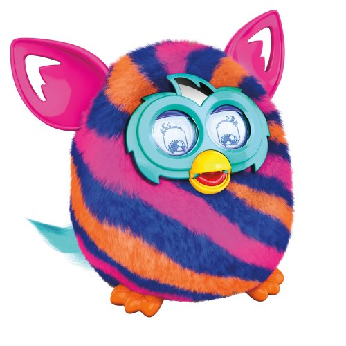 51ivYWg%2BNHL - Furby Diagonal Stripes Boom Plush Toy