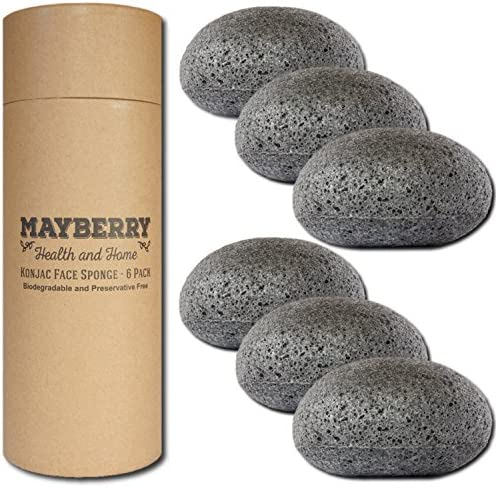 Konjac Facial Sponges Charcoal Radiant