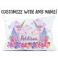 Personalized Unicorn Pillowcase Girls Personalized Pillow Monogram Pillowcase Custom Name Unicorn Pillow