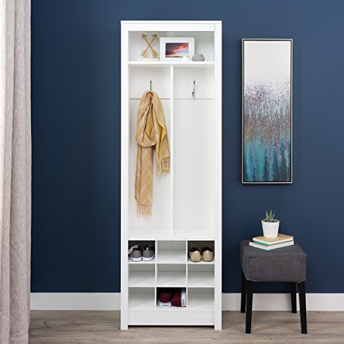 Winslow White Entryway Organizer with Shoe Storage by winslow
