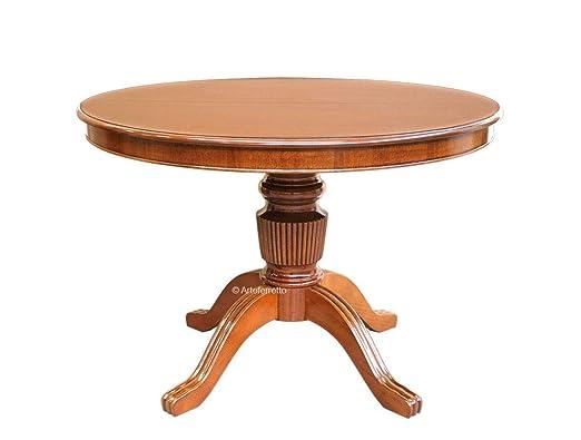 Tavolo Da Pranzo Allungabile Piano Legno.Artigiani Veneti Riuniti Tavolo Rotondo In Legno Da Pranzo Il