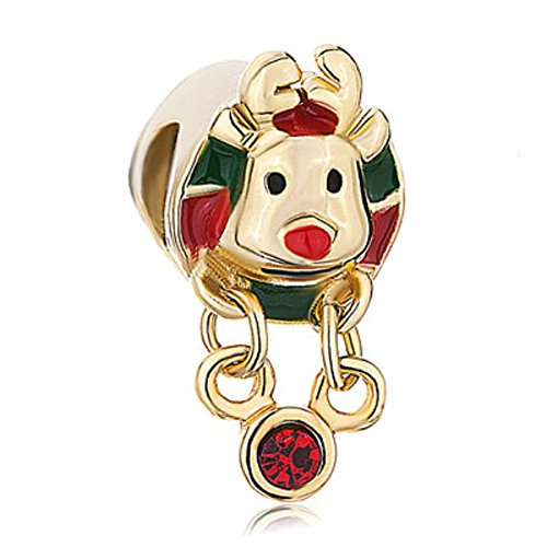 305ef0cf3 JewelryHouse Golden Rudolph Reindeer Red Green Beads Charms for Bracelets  (Drip) - Buy Online in Oman. | Jewelry Products in Oman - See Prices, ...