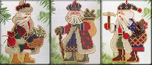 mill-hill-beads-cross-stitch-kit-mountaineer-santas-set-of-3-mhms