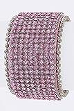 Trendy Fashion Jewelry Crystal Statement Leather Cuff By Fashion Destination