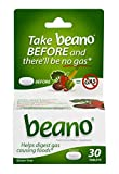 Beano Food Enzyme Dietary Supplement | Help Digest Gas-Causing Foods | 30 Tablets
