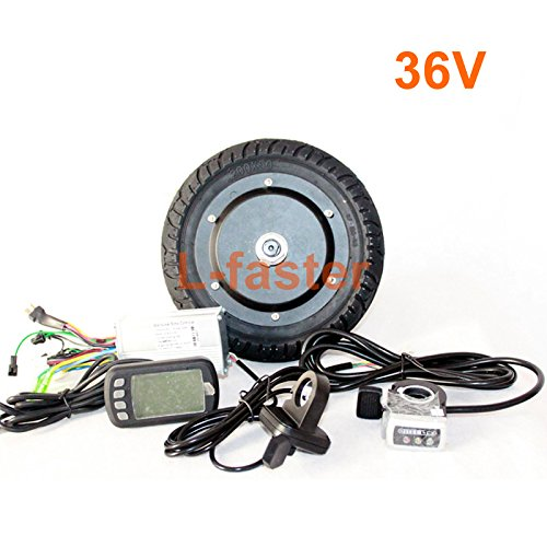 350W 8 INCH ELECTRIC SCOOTER BRUSHLESS HUB MOTOR KIT CAN WITH LCD DISPLAY WUXING THROTTLE DIY ELECTRIC SCOOTER TOWN 7 XL (FLD36V LCD) by L-faster