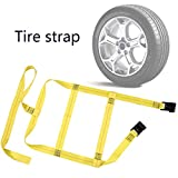 Meditool 2PCS Car Basket Straps Adjustable Tow Dolly Basket Straps with Flat Hooks for Auto Hauling