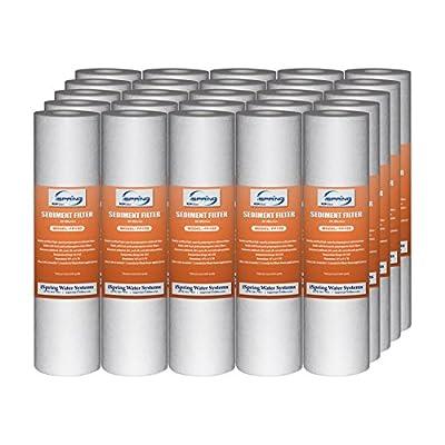 "iSpring 10"" x 2.5"" Universal Sediment Filter Cartridges, 15000 gallon, Multi-layer, Bulk"