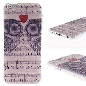 Zaki Owl and Sound Spectrum Pattern PC Hard Cover for iPhone 6