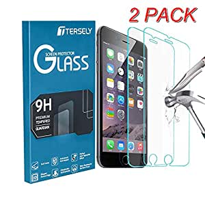 【2-Pack】Apple iPhone 8/7 Screen Protector, Tersely Premium HD Tempered Glass Screen Protector Film [9H Hardness] [Crystal Clear] [Case Friendly] [3D Touch Compatible] for iPhone 8 7 6s 6 (4.7 inch)