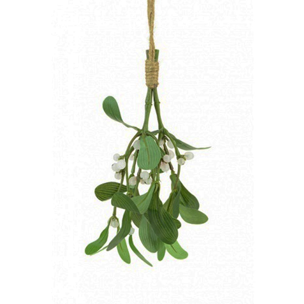 FloristryWarehouse artificial silk Mistletoe bunch 20cm (8 inch) Kissing plant