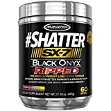 MuscleTech Shatter Sx-7 Black Onyx Ripped Pre Workout with 60 Servings, Raspberry Lemonade, 487 Gram