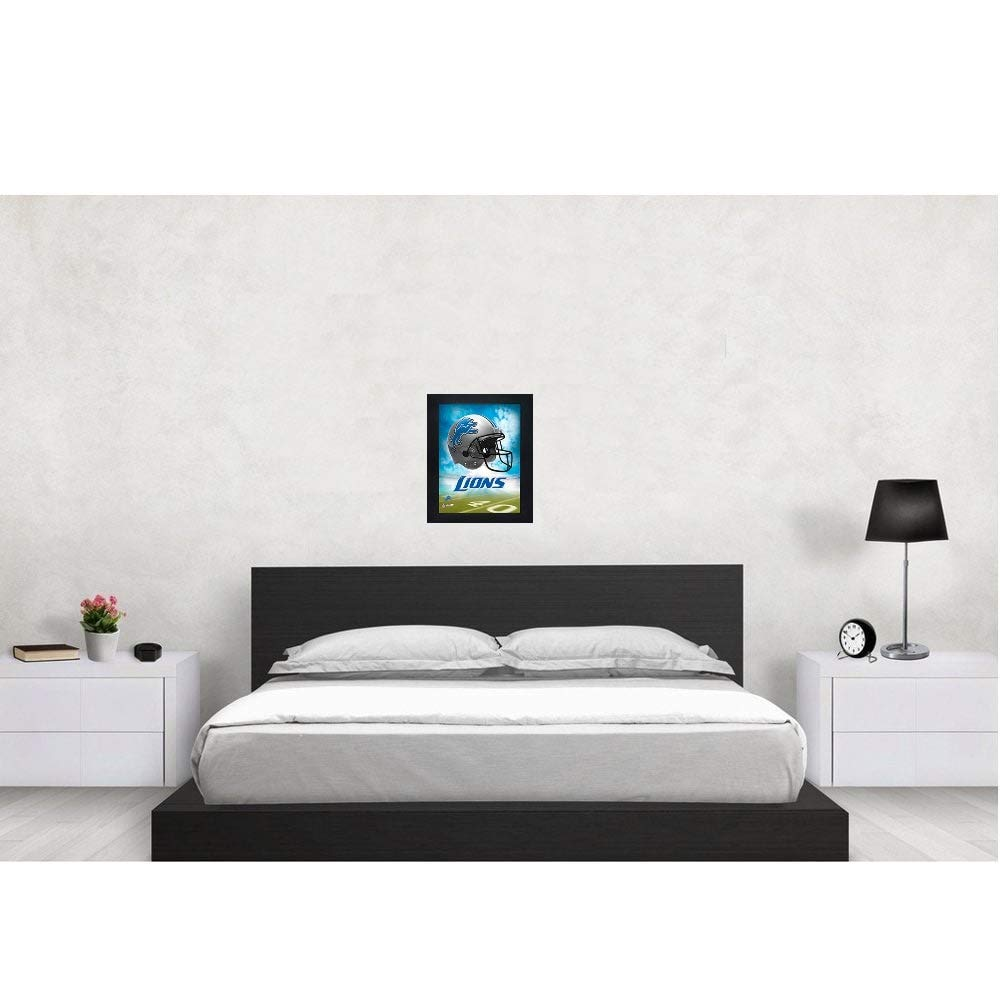 362e4e73 Detroit Lions 3D Poster Wall Art Decor Framed Print | 14.5x18.5 |  Lenticular Posters & Pictures | Memorabilia Gifts for Guys & Girls Bedroom  | NFL ...