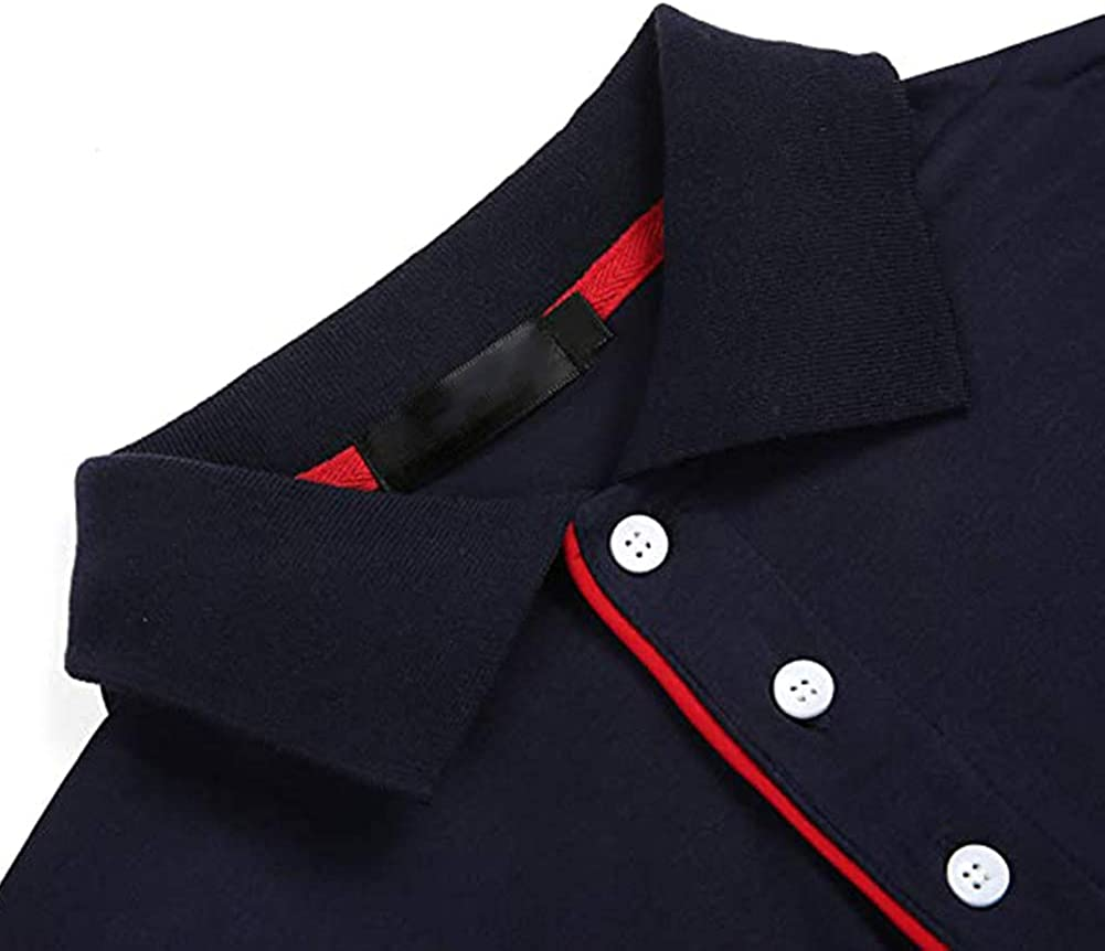 Maglietta a Maniche Corte S-2XL Polo da Uomo da Manica Corta Rmine Polo Shirt Classica Cotone Casual