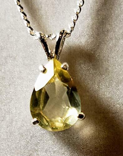 Natural Lemon Topaz Necklace -
