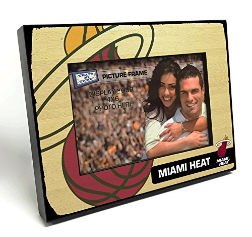 That's My Ticket NBA Miami Heat Wooden Picture Frame, Multicolor, 4