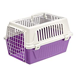 Ferplast Atlas 10 Top Opening Cat and Dog Carrier, Purple
