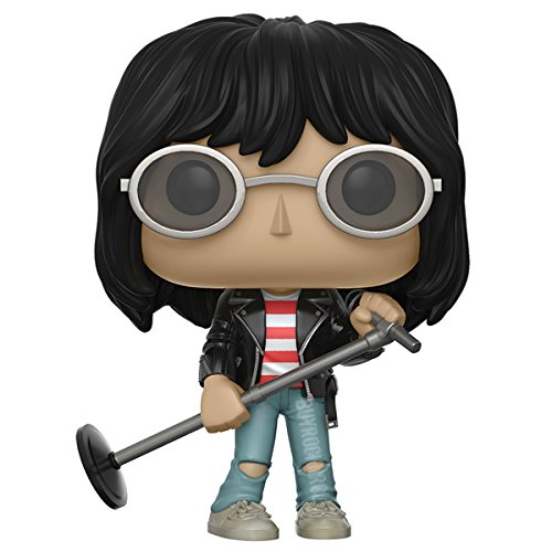 Joey Ramone Collectible: Handpicked 2017 Funko POP! Rocks Figure #55 in Display Case