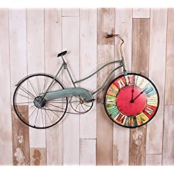 SSBY Creative American country living room bedroom bike wall clock decoration clock ornament on the wall mural