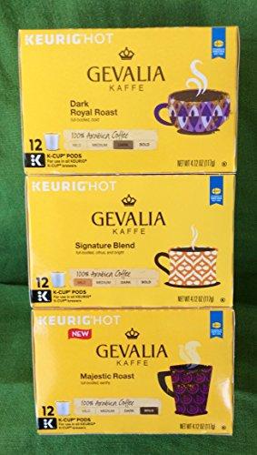 Gevalia K-Cups Signature Roast, Dark Royal Roast and Majestic Roast Variety Pack (36 Count)