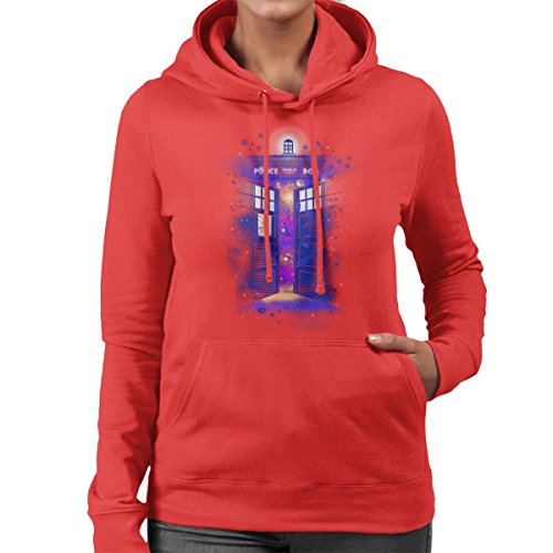 Police Box Time Gate Doctor Who Women's Hooded Sweatshirt