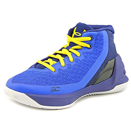 Footwear Curry (Under Armour Boy's Curry 3 Basketball Shoe Blue Size 12 Kids US)
