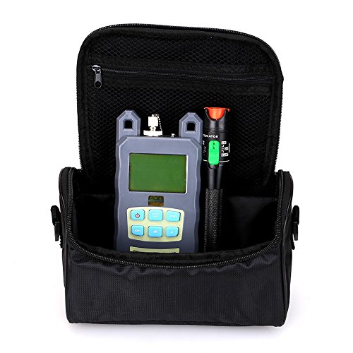 Fiber Tool Small Bag with Optical Power Fiber Meter and 30mW 25-30KM Aluminum Visual Fault Locator with 2.5mm Universal Connector Fiber Optic Cable Tester Checker Test Tool for CATV Telecommunications - Catv Tool Bag